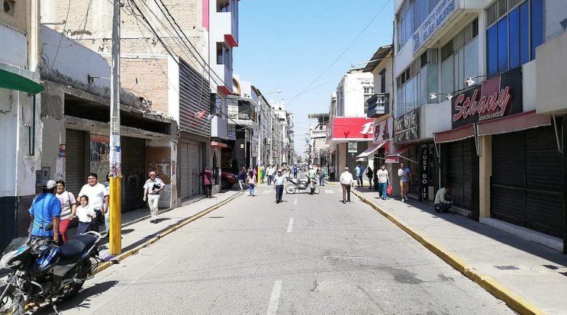 Municipalidad de Chiclayo ejecuta plan piloto para peatonalizar céntrica calle